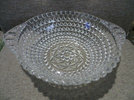 Vintage Indiana Glass Mid Century Berry Bowl Diamond Point Pattern ~ STU... - $15.82