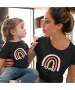 1pc Fashion  Mama and Mini Rainbow print Family Matching T-shirt Short S... - $9.00+
