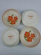 Lenox Temperware Fire Flower Coupe Cereal Soup Bowl Bright Orange Flowers (4) - $40.00