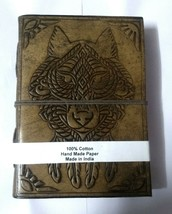 Indian Werewolf Embossed Leather Diary Paper Cotton Handmade Notebook Ha... - $23.27