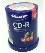 Memorex CD-R 52x 700 mb 80 min 100 pk Photo Video Data Storage Cake Box  - $24.99