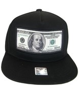 $100 Dollar Bill Ben Franklin Cotton Adjustable Snapback Baseball Cap (B... - $12.95