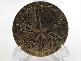 "Bronze Medal Maco 1981 Figures Shields Crests Embossed 3"" - $67.72"