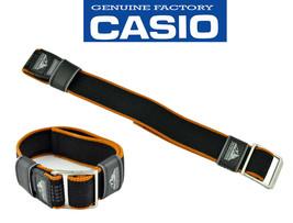 GENUINE CASIO WATCH BAND PATHFINDER 23mm BLACK Orange Resin STRAP PAW-15... - $49.95