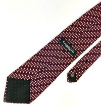 New Kenneth Cole New York Tie Burgundy & Grey Silk Men's Neck Tie - $9.77