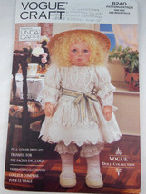Vintage Vogue 8240 Craft Pattern Doll And Clothing Designed By Linda Car... - $7.42