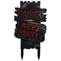 "Black Plastic Yard Sign, 21 x 11.75 in. ""Danger Keep Out""  - $2.50"