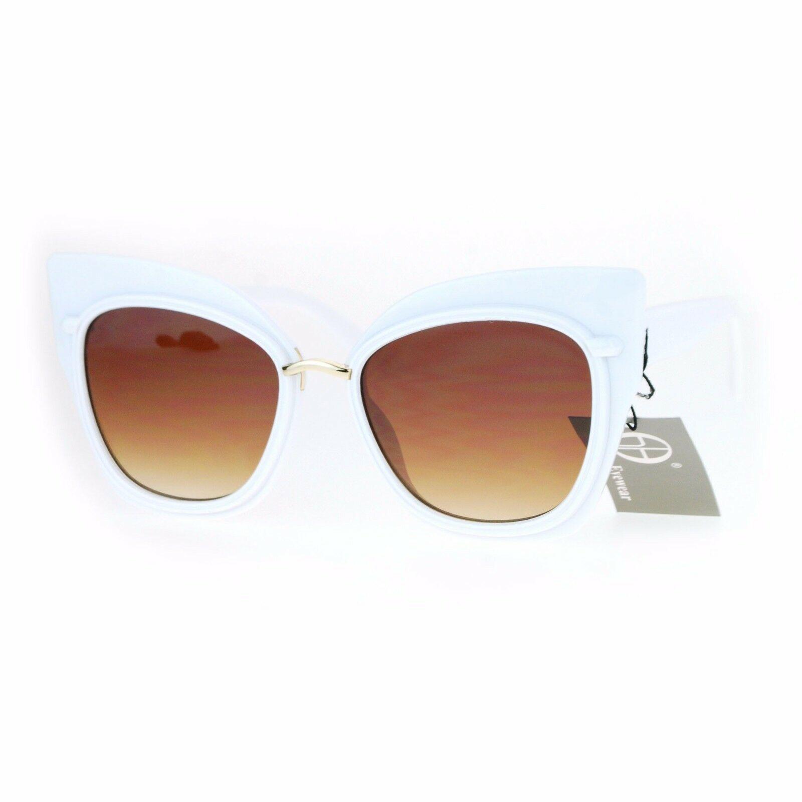 Oversized Fashion Sunglasses Womens Square Cateye Butterfly UV 400 image 4