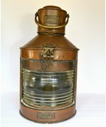 Antique Ship Nautical Signal Lantern - Meteorite, Copper & Brass