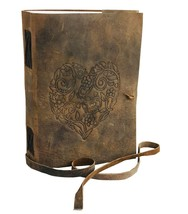 Buffalo Hunter leather BlankBook Journal Diary Sketch with leather strip... - $28.71