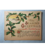 Trade Card, 1880s, 5 yr Christmas gift subscription Farm Journal of Phil... - $1.58