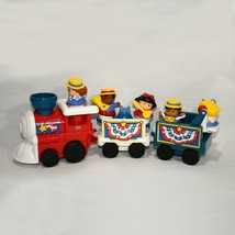 Working Fisher Price Little People Hooray for Red White Blue Train 4th of July! - $49.49