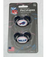 New Baby Pacifiers Buffalo Bills 2 Pack NFL Football Blue Orthodontic BP... - $12.86