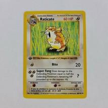 Pokemon Base Set 1st Edition Raticate LP 40/102 TCG Card Shadowless 1999 - $32.87