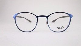 RayBan RB6355 2538 Optical Frame Metallic Blue Round Eyeglasses  - $65.41
