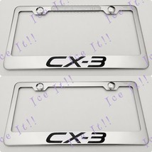 2X Mazda CX-3 CX 3 Stainless Steel License Plate Frame Rust Free W/ Caps - $22.76