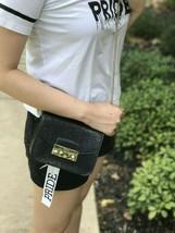 NWT Furla Mini Julia Pochette glitter Crossbody Bag In black  - $199.99
