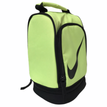 Nike Youth Insulated Zippered Dual Compartment Dome Lunch Bag Neon Volt ... - $19.16