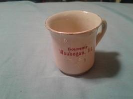 souvenir cup Waukegan Illinois antique - $14.80