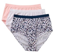 Women's Secret Treasures Brief Panties 3 Pair Size Medium 6 Pink Blue Le... - $11.87