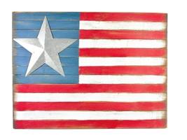 Rustic Wood American Flag Wall Art – Great Star American Flag Wall Art - $27.70