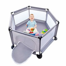Baby Playpen Portable Play Yard for Toddlers Baby Fence for Indoors and ... - $90.99