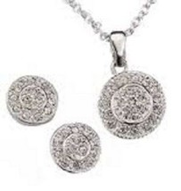 Avon Pave Circle Necklace & Earring Set - $14.99