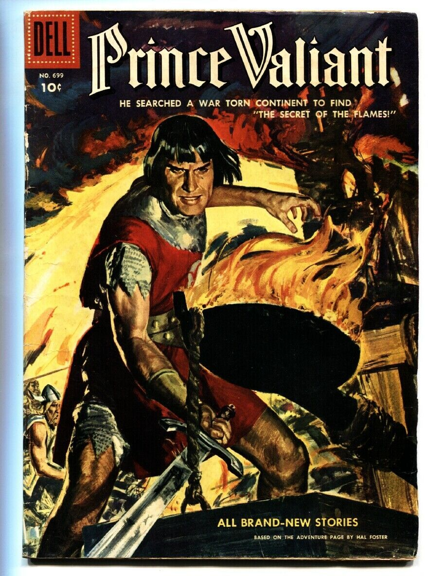 PRINCE VALIANT FOUR COLOR #699 1956-DELL COMICS-WAR VG