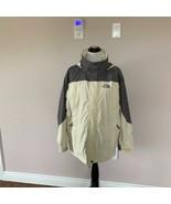 EUC NORTHFACE HyVent Gray & Cream Windbreaker Jacket SZ L - $78.21
