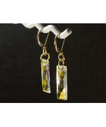 Swarovski Crystal Dangle Earrings /14k gold Filled / w/ Swarovski Elemen... - $36.95+