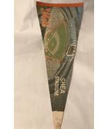 """Vintage Shea Stadium Mets Pennant 28.5"""" Long 11.5"""" Wide - $9.90"""
