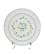 "Floral Expressions Scalloped Dinner Plate 10 1/2"" Genuine Stoneware Flor... - $11.87"