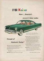 1951 Kaiser Deluxe 2 Dr Sedan 1950 AD Anatomic Design Kaiser-Frazer Auto... - $12.99