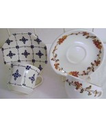 Royal Staffordshire Ironstone & Scammells Trenton China Cups & Saucers - $200,63 MXN