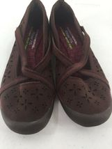 Skechers Womens 8M Shoes Wedge Wine Color Memory Foam image 5