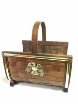 Federal Eagle Woven Basket Vintage Firewood Storage Rack Display Basket ... - $89.09