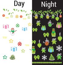 BANG STORE Nail Art Water Decals Glow in the Dark Christmas Ornaments Snowman - $2.11