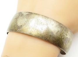 S. KIRK & SON 925 Silver - Vintage Minimalist Smooth Wide Cuff Bracelet ... - $113.04