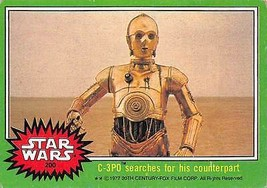 1977 Topps Star Wars Green #200 C-3PO Searches For His Counterpart > Poor - $0.99