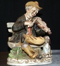 Old Man playing a violin Homco 1157AA AA-191921 Collectible Vintage image 1