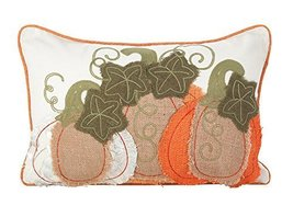 "Fennco Styles Patchwork Pumpkin Design Poly Filled Throw Pillow (12""x18"") - $31.67"