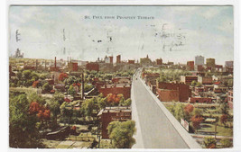 Panorama St Paul from Prospect Terrace Minnesota 1920 postcard - $5.94