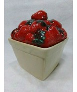 Vintage Ceramic Strawberry Basket Canister by The House of Webster Excel... - $12.30