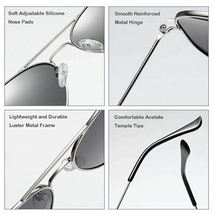 COASION Classic Polarized Aviator Mirrored Sunglasses with UV400 Protection image 3