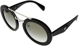 Prada Milano Sunglasses Womens ORNATE Black Round PR15SS 1AB0A7 - $454.41