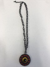 Joan Rivers Classic Collection Pendant Necklace red purple green gold - $23.36