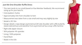 Just Me Women Fuchsia Ruffle One-Shoulder Social Dress image 5