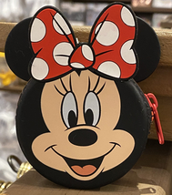 Disney Parks Minniey Mouse Face Coin Purse Hanger Keychain Key Chain NEW - $19.90