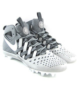 NIKE HUARACHE V5 LAX Men's Lacrosse Cleats Shoes Gray, White 807142-010 Size 11 - $52.50