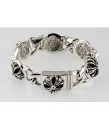 Chrome Hearts Sterling Silver Fancy Cross Link Bracelet 1996 Vintage Rare - $1,485.02
